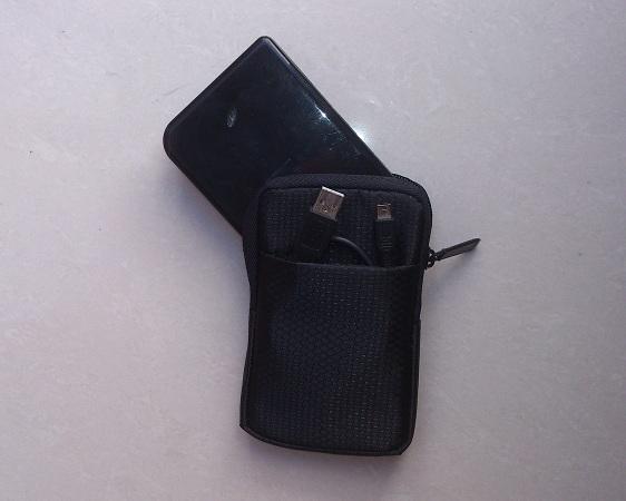 túi đựng ổ cứng di động 2.5 inch có găn đựng cáp usb